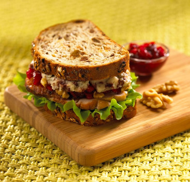 Turkey Sandwich with Blue and Cranberries | Castello Canada