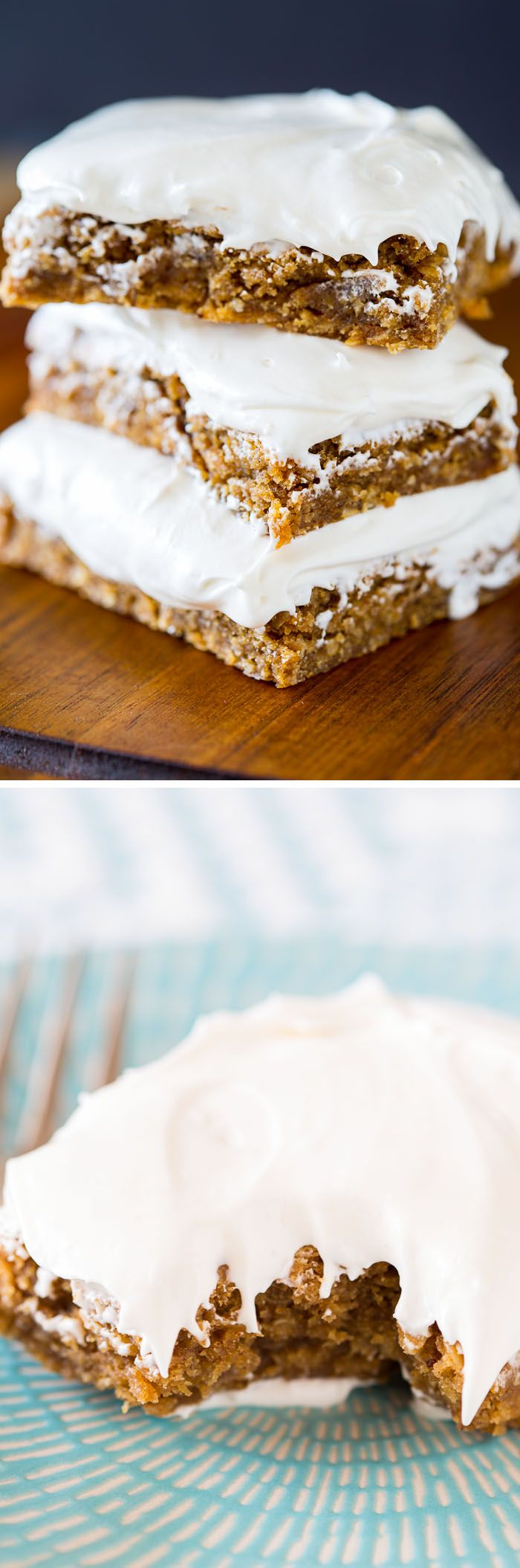If you love Oatmeal Creme Cookies, you'll adore this recipe for Chewy Brown Butter Oatmeal Creme Pie Bars. They're delicious and easy! #sponsored by @Plugrabutter