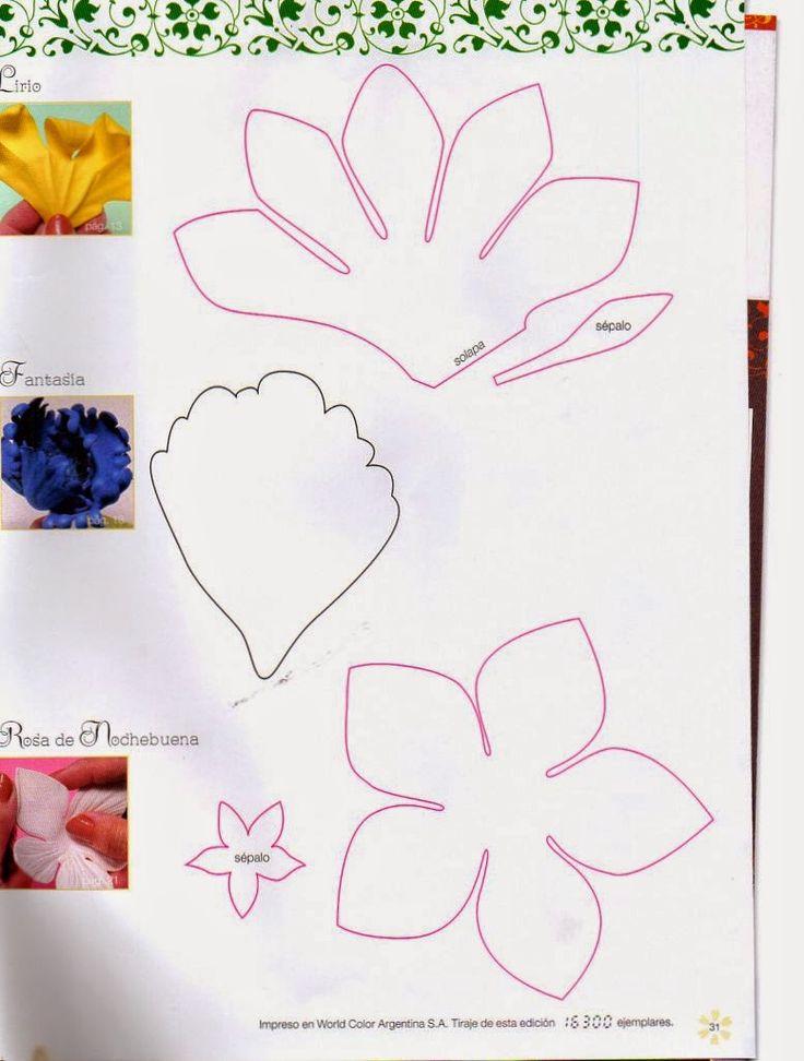 Revistas de manualidades Gratis: Como hacer flores navideñas en foamy