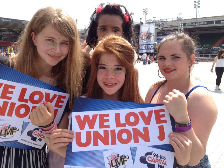 The Union J Army was out in force to support the boys and they weren't let down Leicester Music Festival