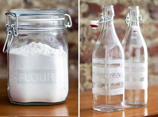 Follow this tutorial to create etched kitchen containers.