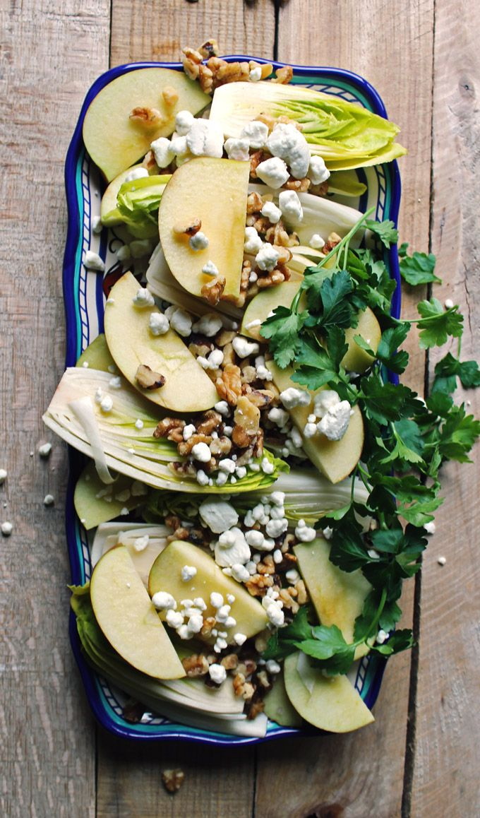 Belgian endive and apple salad recipe - Classic get-in-my-belly goodness.
