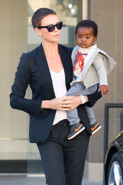 Charlize Theron Spotted Out And About With Jackson Theron