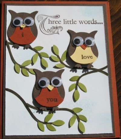 Stampin Up Owl Punch Card Ideas
