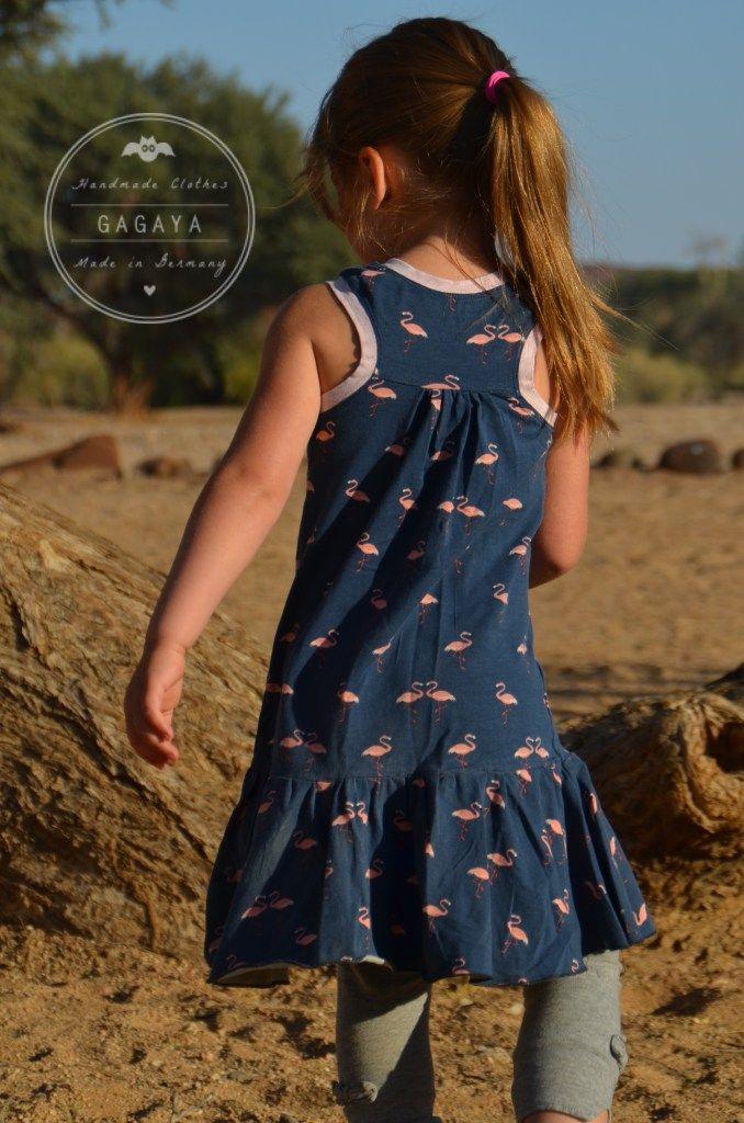 Jersey Sommerkleid Flamingos. – GagaYa
