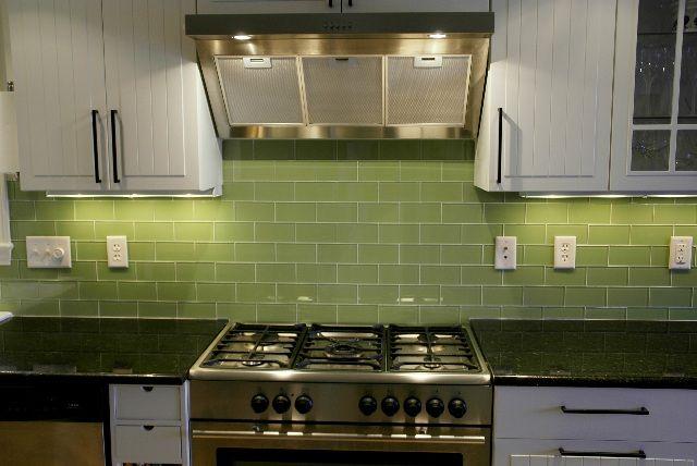 green subway tile kitchen backsplash | Supreme Glass Tiles – Light Green  Subway Tile | Backsplash ideas | Pinterest | Glasses, Glass backsplash and  Search