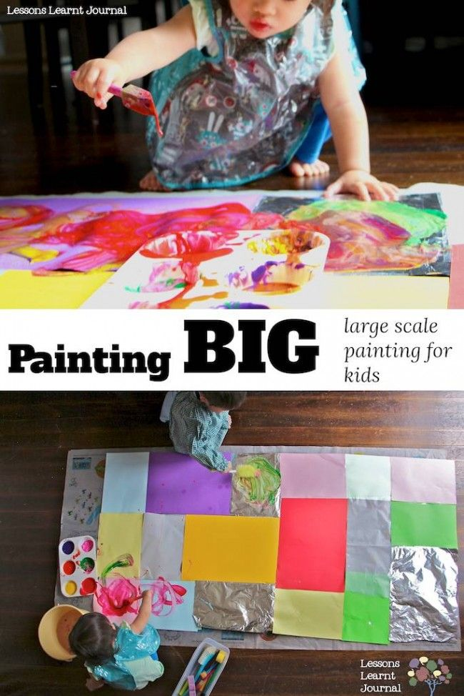 Let's paint big: large scale painting for kids. ~via Lessons Learnt Journal.