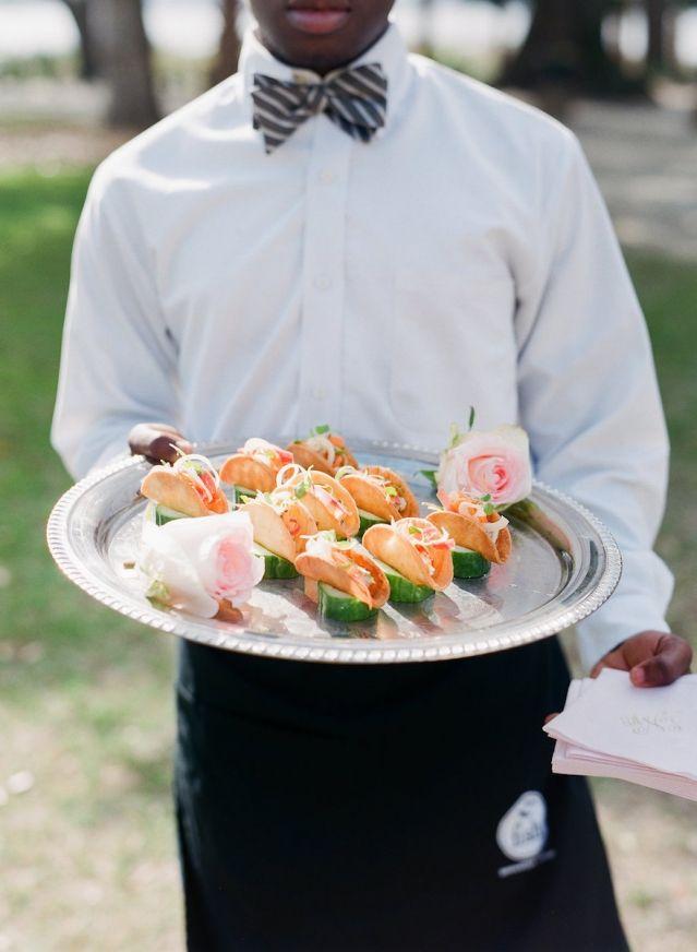 Cuisine by PPHG | Charleston Weddings Magazine | Lowndes Grove Plantation | Charleston, SC | Photos by Corbin Gurkin