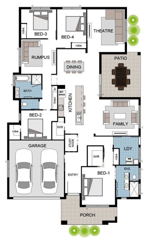 68 best House Floorplans images on Pinterest | House design, House ...
