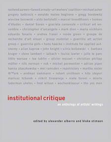 Alexander Alberro and Institutional Critique