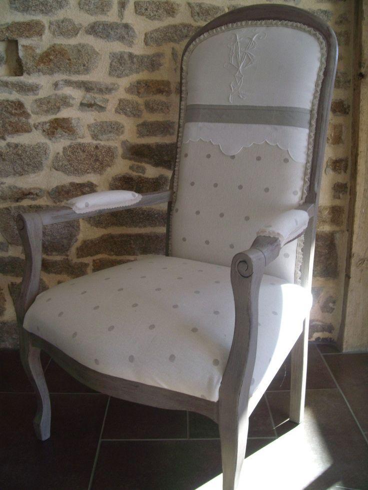 Fauteuils au gr de mes trouvailles tapisserie for Fauteuil shabby chic