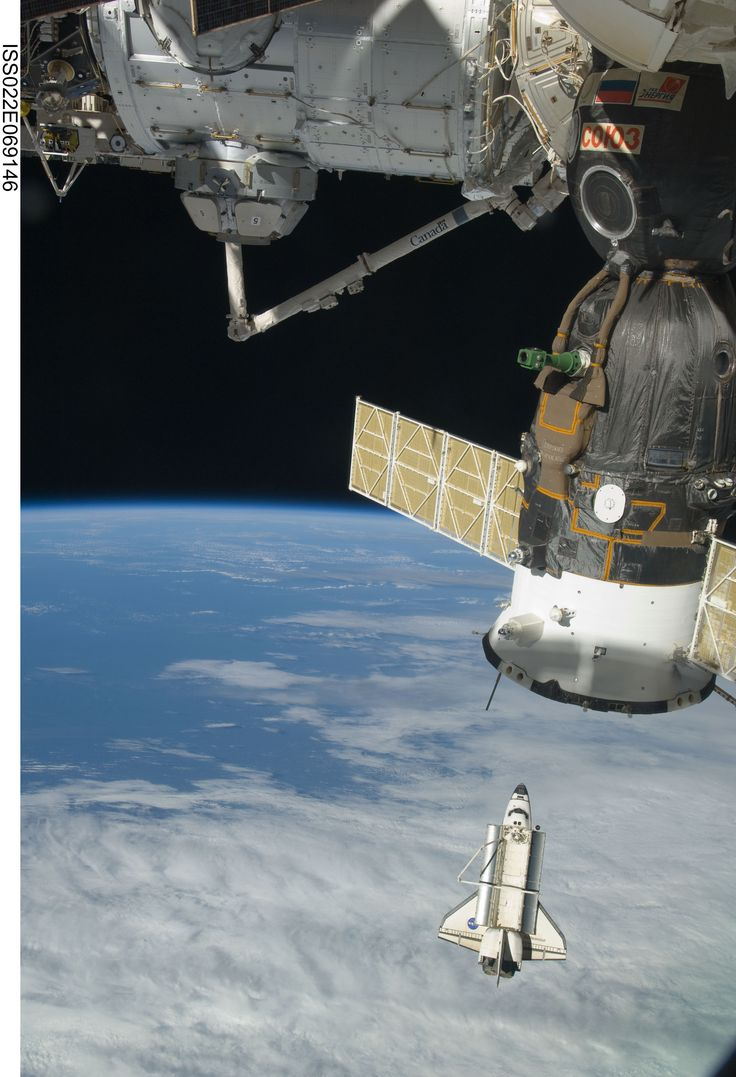 The space shuttle Endeavour is featured in this image photographed by an Expedition 22 crew member on the International Space Station soon after the shuttle and station began their post-undocking relative separation. Undocking of the two spacecraft occurred at 7:54 p.m. (EST) on Feb. 19, 2010.