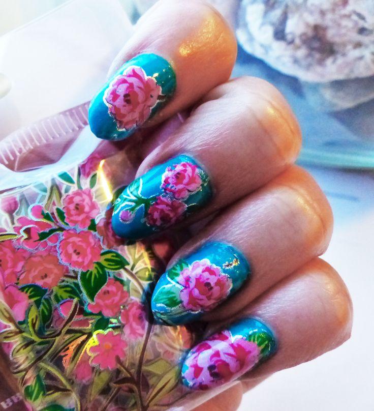 Siirtofoliot alk 1,50 kpl www.berylli.fi #kynnet #kynsikoristelu #kynsitaide #nailart #nail #nails #art #rose #foil #spring