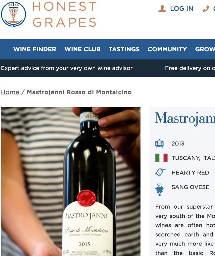 HonestGrapes x Rosso di Montalcino Mastrojanni