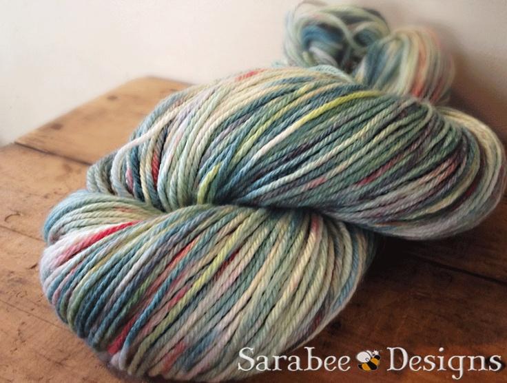 Little Lilypad- Kettledyed Merino/Silk blend yarn. $24.00, via Etsy.