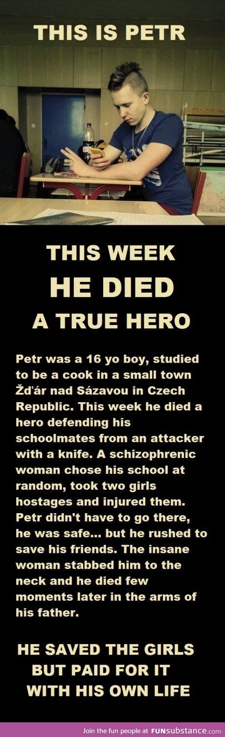 True life hero... Let people like him be never forgotten