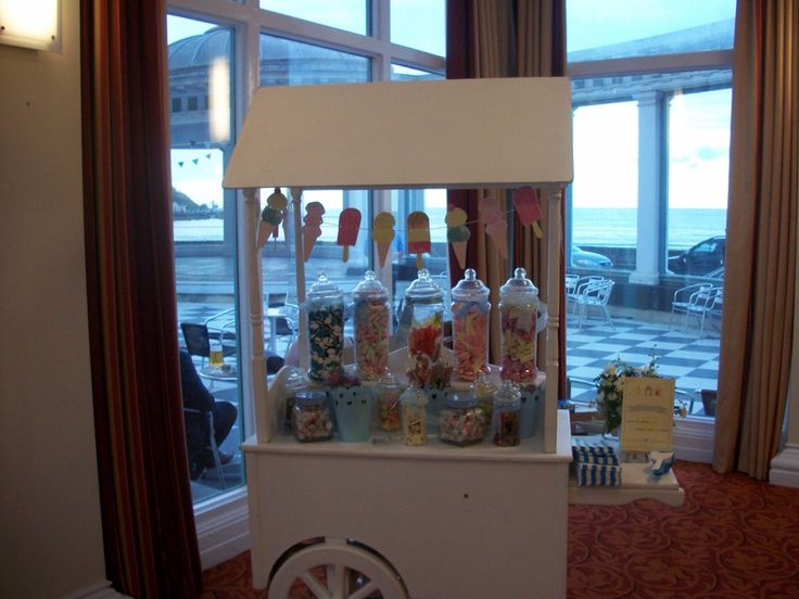 Candy cart with ice lolly bunting from Homebird House in Scarborough.