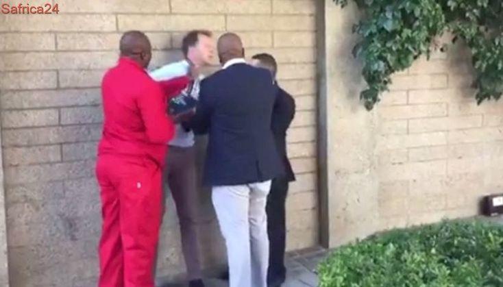 Journalist attacked by EFF's Floyd Shivambu
