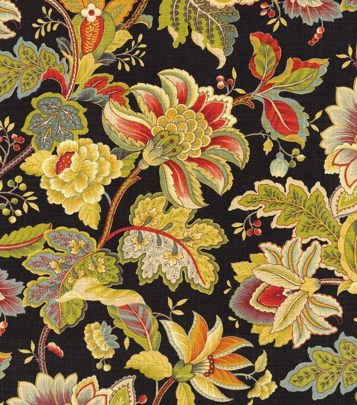 Home Decor Print Fabric- Swavelle Millcreek Venezla Cliffside Noir