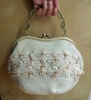 Bolso de seda de morera natural y boquilla de 19,50 cm