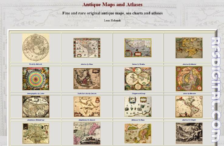 helmink.com - curiosa web con mapas, cartas marinas y atlas antiguos