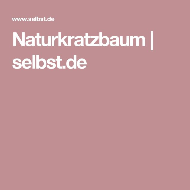 Naturkratzbaum | selbst.de
