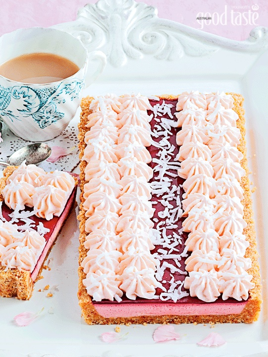 Readers have been flooding us with emails about how much they are enjoying making and sharing our Iced Vovo Tart, inspired by the classic Arnott's biscuit. Stunning but a lot easier than it looks!