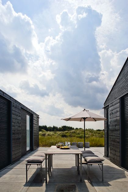 create outdoor space sheltered from the wind