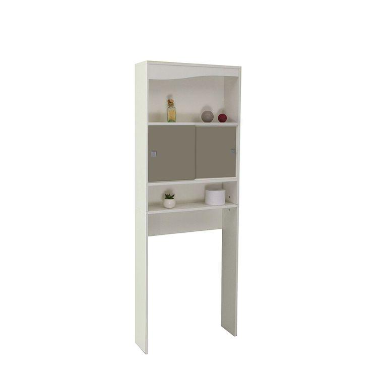 Meuble WC-Machine à laver-Corps blanc-façade taupe/6090A2191A17: Amazon.fr: Cuisine & Maison