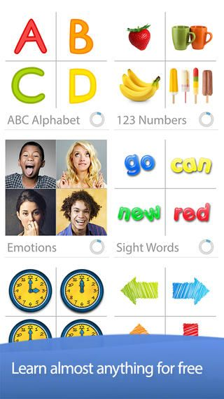 Bitsboard Preschool - Endless Flashcards and Games for Kids in Kindergarten ($0.00) • Access to Bitsboard catalog w/tens of thousands of flashcards & lessons covering hundreds of topics. Flashcards Explore Photo Touch Story Time Side by Side True or False Memory Cards Pop Quiz Match Up Word Builder Sentence Builder BINGO Genius Tracks progress Supports Multiple users Easy to add/organize boards Group multiple boards into collections by topic, student, etc. Share/sync content cross devices