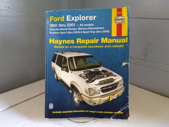 Haynes 1991 2004 Ford Explorer Mazda Navajo Mercury Etsy Ford Explorer Mercury Mountaineer Automotive Repair