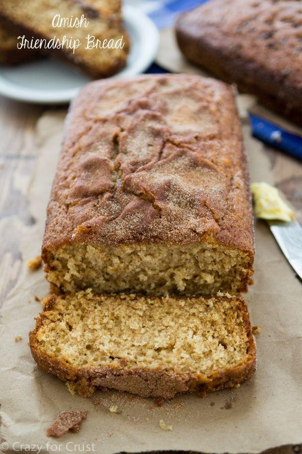 """Pan de la amistad Amish con una receta para el plato!  Esto hace el mejor pan """"rápida"""" nunca!"""