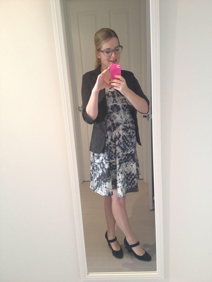 Day 24: Portmans dress, old blazer and Clarks Mary Janes.