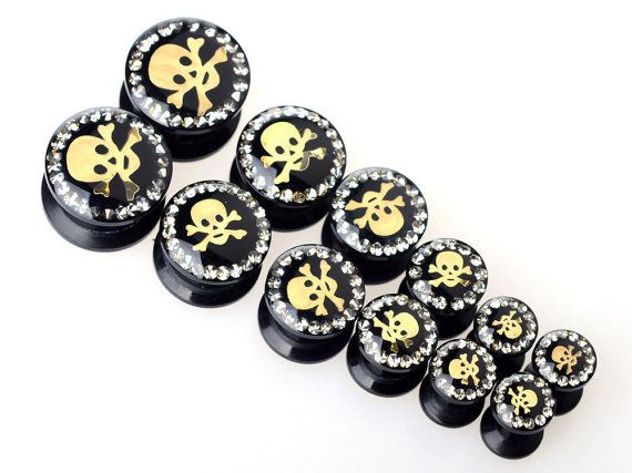 Acrylic Ear Tunnels Expander Screw Plugs Earlets Gauges $4.60 USD per pair  By Fantasy Expressions.