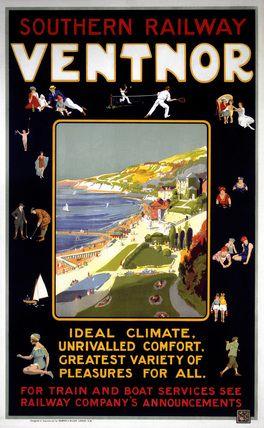 ISLANDS - Isle of Wight 'Ventnor', SR poster, c 1920s.
