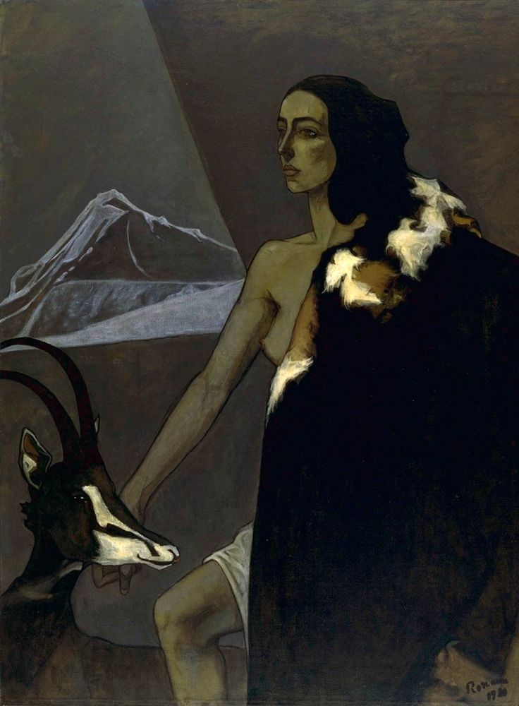 'The Huntress' (1920) by European-based American painter Romaine Brooks (1874-1970). via Weimar