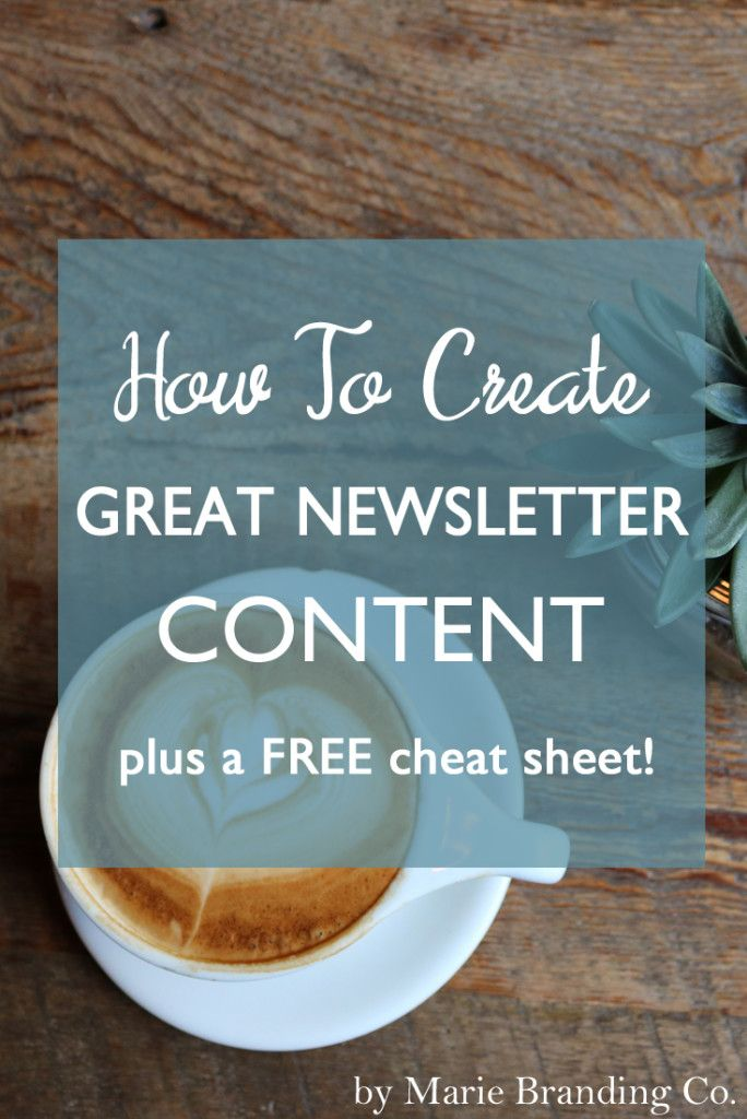 Newsletters are an important marketing tool for growing your blog or business. Follow these steps to help you streamline great content, and download a FREE cheat sheet for killer headlines!