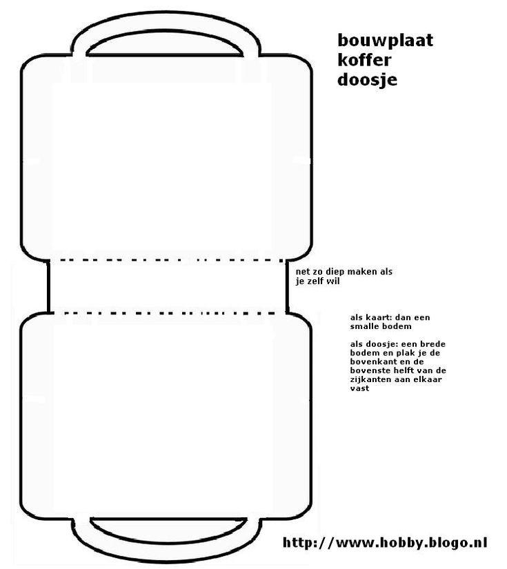 Afbeeldingsresultaat voor koffer vouwen van papier