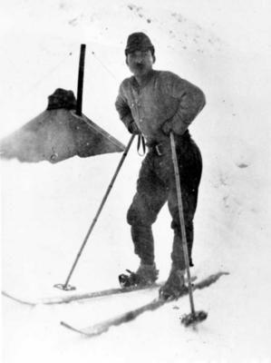 Japanese ski trooper in Attu island (1943)