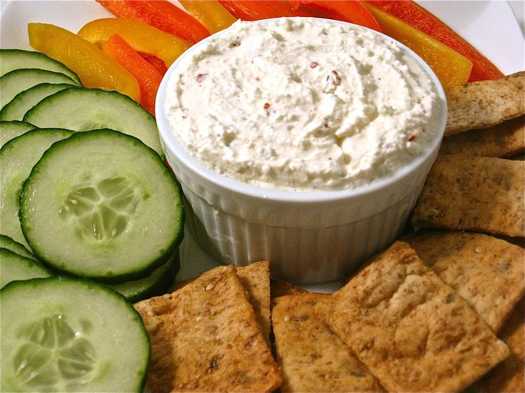 This vegetarian skinny dip is so easy to make and really fantastic tasting. It's become my go-to dip since everyone loves it! So decadent tasting, it's hard to believe it's made with all fat-free ingredients except 1 tablespoon olive oil.