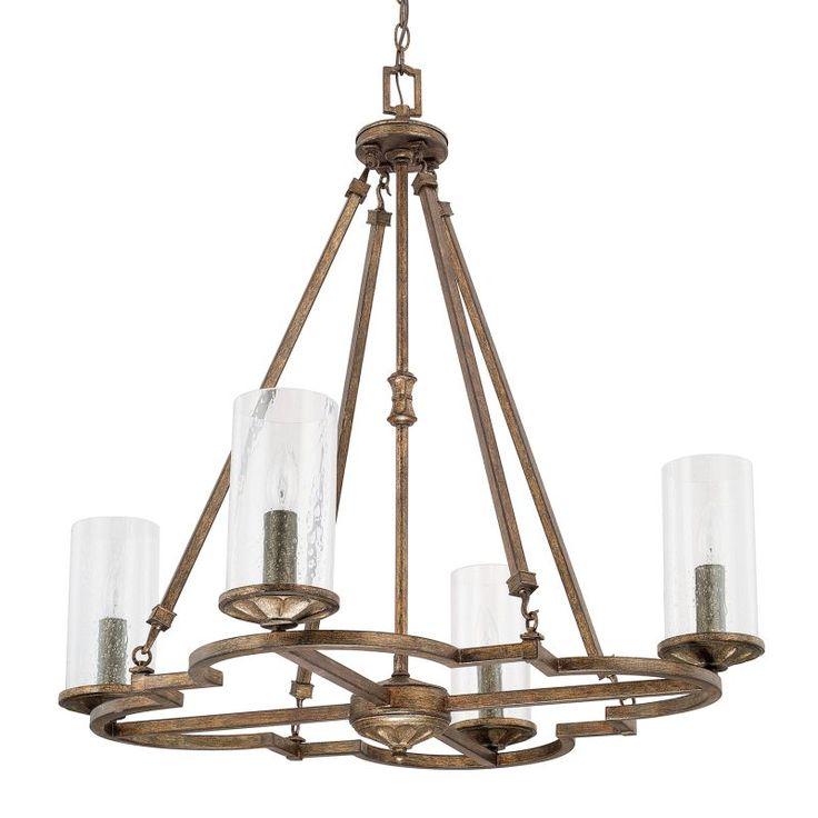 Capital Lighting 417641-376 Avanti 4 Light 1 Tier Chandelier Rustic Indoor Lighting Chandeliers