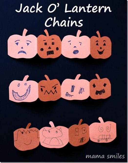 Pumpkin Jack O' Lantern Chains: Halloween Fun and Emotional Intelligence from Mama Smiles