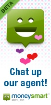 Chat up moneysmart's Live Chat icon Happy for Valentines Day and Love your Budget February