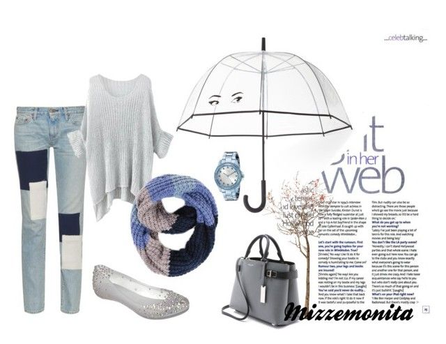Welcome rainy day by mizzemonita on Polyvore featuring Simon Miller, Melissa, Michael Kors, GUESS, Kate Spade and Paula Bianco