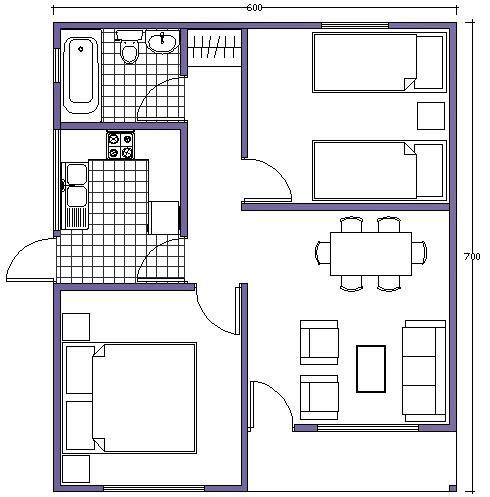 363 best planos de casa campo o playa images on pinterest for Plano casa campo