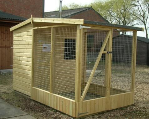 Dog Kennel And Run Shed Outdoor Dog Runs
