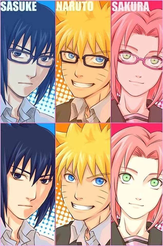 Sasuke looks great with glasses yaaaay^^ (With images