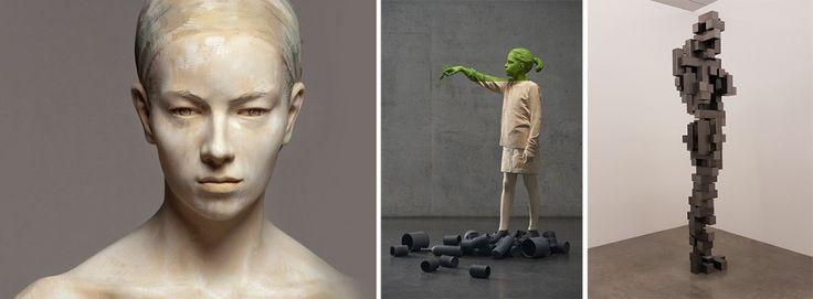 современная скульптура в интерьере