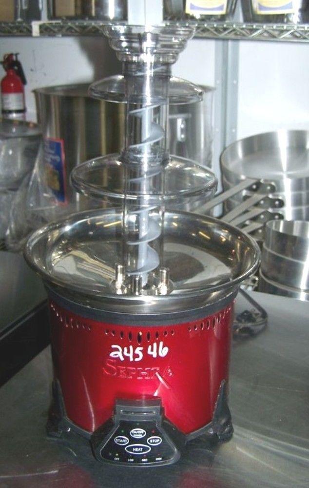 $115 Sephra Red Chocolate Fondue Foundtain, Electric 110/120V; 1PH; Model: CF18MR #Sephra