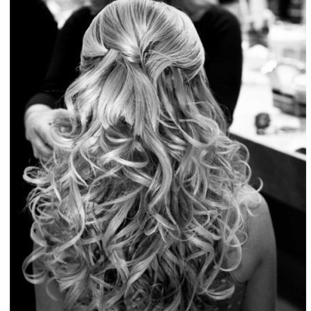 Curly HairHair Ideas, Hairstyles, Half Up, Long Hair, Beautiful, Curls, Wedding Hairs, Hair Style, Curly Hair